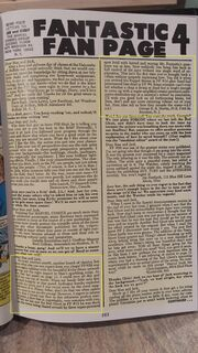 Fantastic Four vol 1 George R R Martine letter