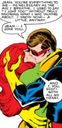 Phoenix Force as Jean Grey and Scott Summers (Earth-616) from X-Men Vol 1 129 0001