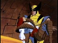 Yuriko Oyama (Earth-92131) and Wolverine (Logan) (Earth-92131) from X-Men The Animated Series Season 3 2 0003