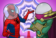 Peter Parker (Earth-TRN562) and Quentin Beck (Earth-TRN562) from Marvel Avengers Academy 001