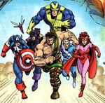 Avengers (Earth-829) from Hercules Twilight of a God Vol 1 4 0001