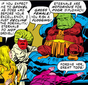 Tode, Thena, Kro, Vira (Earth-616) from Eternals Vol 1 8