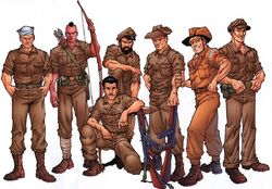 Leatherneck Raiders (Earth-616) from Official Handbook of the Marvel Universe A-Z Update Vol 1 2 001