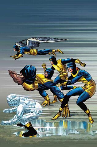 File:X-Men Blue Vol 1 1 Kirby 100th Anniversary Variant Textless.jpg