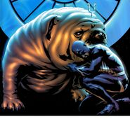 Blackagar Boltagon (Earth-616) seeks comfort from Lockjaw from Inhumans Vol 2 8