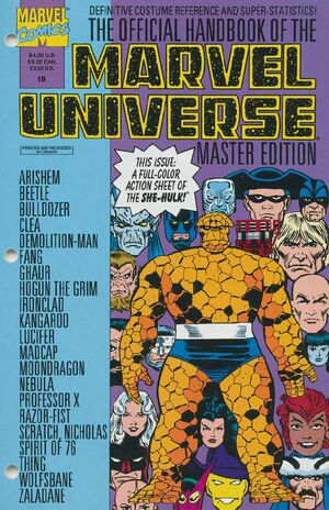 Official Handbook of the Marvel Universe Master Edition Vol 1 18