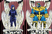 Thanos (Earth-616) and Death (Earth-616) from Thanos Quest Vol 1 2 0001