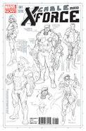 Cable and X-Force Vol 1 1 Quesada Sketch Variant