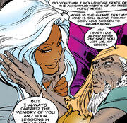 Achmed El Gibár and Ororo Munroe (Earth-616) from X-Men Unlimited Vol 1 7 0001