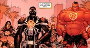 Laura Kinney (Earth-616), Eugene Thompson (Earth-616), Johnathon Blaze (Earth-616), and Thaddeus Ross (Earth-616) from Venom Vol 2 14 001