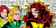 Phoenix Force as Jean Grey, Sara Grey and Elaine Grey (Earth-616) from X-Men Vol 1 136 0001
