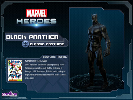 Costume blackpanther classic
