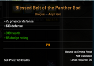 Blessed Belt of the Panther God