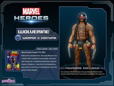 Costume wolverine weaponx