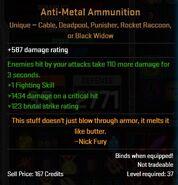 Antimetal ammunition