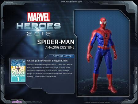 Costume spiderman Amazing