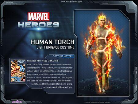 Costume humantorch lightbrigade