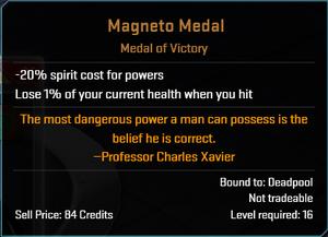 Magneto medal