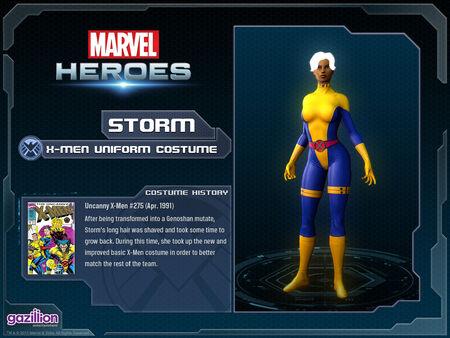 Costume storm xmenuniform