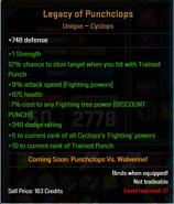 Legacy of punchclops