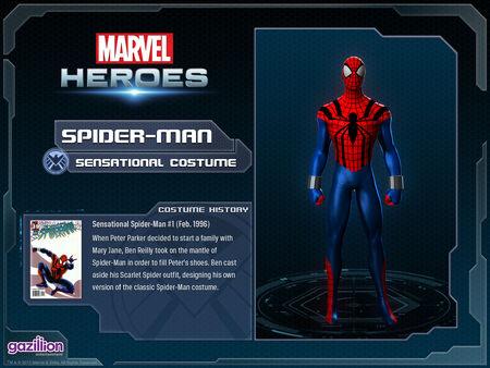 Costume spiderman sensational