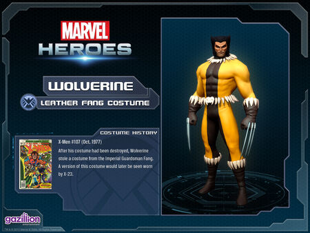 Costume wolverine leatherfang
