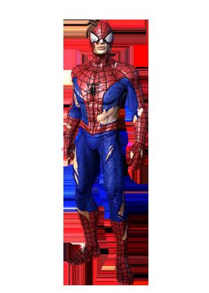 F spiderman battledamaged