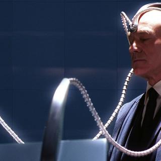 Professor Xavier using Cerebro