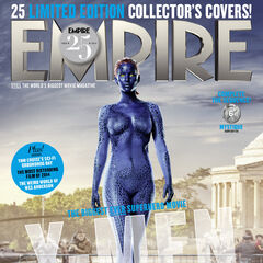 Mystique on the cover of <i>Empire</i>.