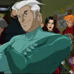 Quicksilver in Xavier's vision.