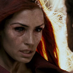 Jean breaking through the Phoenix persona