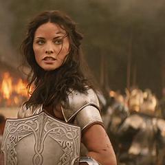 Lady Sif in battle.