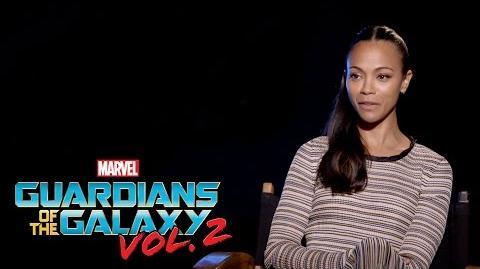Zoe Saldana on Marvel Studios' Guardians of the Galaxy Vol. 2