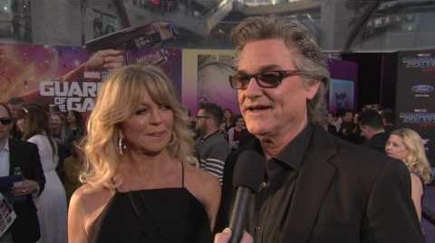 """Guardians of the Galaxy Vol. 2 Kurt Russell """"Ego"""" Red Carpet Movie Premiere Interview"""