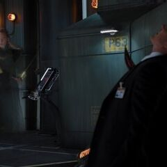 Coulson stabbed by Loki.