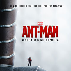 Ant-Man promo poster featuring Mjolnir.