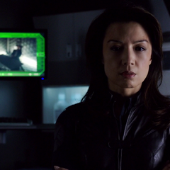 May visibly concerned for Skye after she'd been shot.