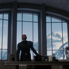 Red Skull at his desk