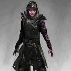 Concept art for Blink in <i>X-Men: Days of Future Past</i>.