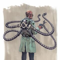 Unused concept art for Doctor Octopus in <i><a href=