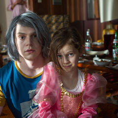 Pietro and his little sister.