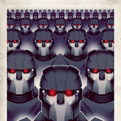 Trask Industries' Sentinels poster.