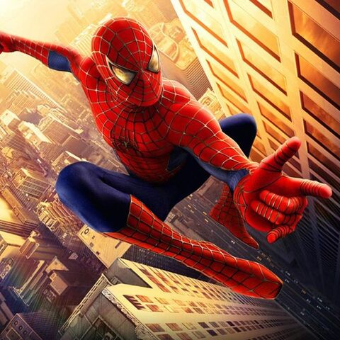 Spider-Man suit as seen in <i>Spider-Man</i>.