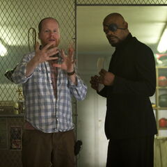Joss Whedon and Samuel L. Jackson.