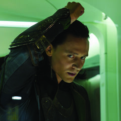 Loki angrily addresses Black Widow as she tries to speak with him.