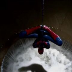 Spider-Man in the sewers.