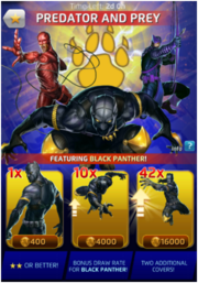 Predator And Prey Comic (Season VI) Offer