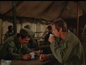 MASH-4x12-Of Moose and Men Zale with BJ in Mess Tent