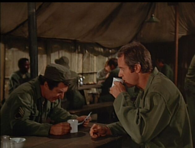 File:MASH-4x12-Of Moose and Men Zale with BJ in Mess Tent.jpg