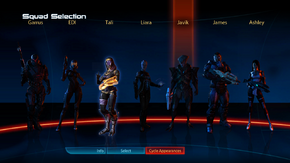 ME3 squad selection a